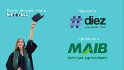 Dacă rămân acasă, merg la Medicină. Eveniment online de orientare în carieră, organizat de #diez