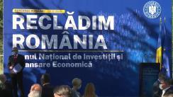 Evenimentul de prezentare a Planului Național de Investiții și Relansare Economică, elaborat de Guvernul României