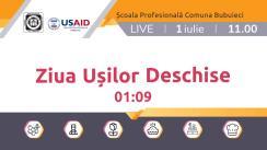 Ziua Ușilor Deschise online la Școala Profesională Comuna Bubuieci