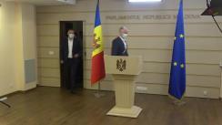 Declarații de presă a deputaților din Grupul parlamentar PRO MOLDOVA
