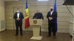 Briefing de presă susținut de către deputații din fracțiunea PSRM înainte de ședința Parlamentului Republicii Moldova din 2 iulie 2020