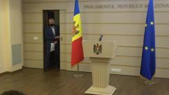 Briefing de presă susținut de către deputații din fracțiunea Platforma DA Blocul ACUM