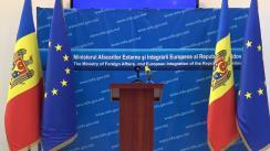 """Briefing organizat de Ministerul Afacerilor Externe și Integrării Europene cu tema """"Implementarea Acordului de Asociere cu Uniunea Europeană, Rezultate și priorități pentru 2020"""""""