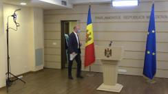 Briefing de presă susținut de deputatul și Președintele PDM, Pavel Filip
