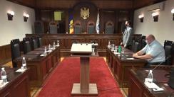 Ședința Curții Constituționale de examinare a sesizării privind interpretarea articolelor 2 alin. (1), 38, 61 alineatele (1) și (3), 78, 85 alineatele (1), (2) și (4), 90 alineatele (1), (2) și (4) din Constituție