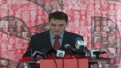 Conferință de presă susținută de Dan Șova, Senator PSD