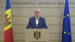 Declarații de presă ale Președintelui Fracțiunii ACUM Platforma DA, Alexandr Slusari, înainte de ședința Parlamentului Republicii Moldova din 6 iulie 2020