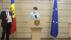 Briefing al deputaților Fracțiunii ACUM Platforma DA, Chiril Moțpan și Stela Macari