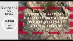 """Conferința de presă """"Irigarea din subteran – o aventură care ne lasă fără apă potabilă și distruge solurile"""""""