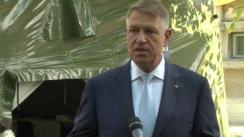 Declarațiile de presă susținute de Președintele României, Klaus Iohannis, la finalul vizitei la Institutul Cantacuzino