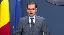 Declarații de presă susținute de Prim-ministrul României, Ludovic Orban