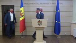 Conferință de presă a deputaților din Grupul Parlamentar PRO MOLDOVA
