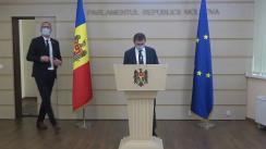 Declarațiile lui Igor Grosu și Sergiu Litvinenco în timpul ședinței Parlamentului Republicii Moldova din 9 iulie 2020