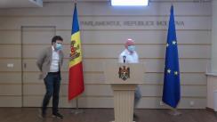 Conferință de presă susținută de deputații Fracțiunii PAS Blocul ACUM, Dan Perciun și Oazu Nantoi