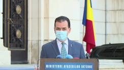 Declarații susținute de premierul Ludovic Orban, după participarea la ședința în sistem videoconferință cu prefecții și șefii structurilor MAI și ai celorlalte instituții și autorități cu atribuții în gestionarea situației generate de creșterea numărului de îmbolnăviri cu COVID-19
