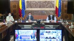 Participarea premierului Ludovic Orban, împreună cu ministrul afacerilor interne, Marcel Vela, la ședința în sistem videoconferință cu prefecții și șefii structurilor MAI și ai celorlalte instituții și autorități cu atribuții în gestionarea situației generate de creșterea numărului de îmbolnăviri cu COVID-19