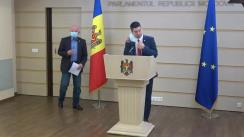 """Conferință de presă susținută de către deputații Partidului Acțiune și Solidaritate, Mihail Popsoi și Oazu Nantoi, cu tema """"Situația din stânga Nistrului și cedările unilaterale ale Guvernului Chicu-Dodon"""""""