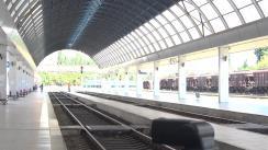 Ceremonia de întâmpinare a primelor 6 locomotive pentru Calea Ferată din Moldova
