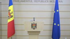 Declarația de presă susținută de vicepreședintele Parlamentului Republicii Moldova, Alexandru Slusari