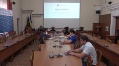 Conferință de presă organizată de Ministerul Sănătății, Muncii și Protecției Sociale de prezentare a situației epidemiologice privind controlul infecției COVID-19 pe teritoriul Republicii Moldova