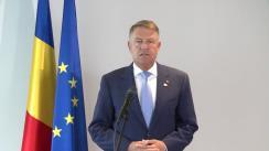 Declarație de presă susținută de Președintele României, Klaus Iohannis, înaintea participării la reuniunea Consiliului European de la Bruxelles (Regatul Belgiei)
