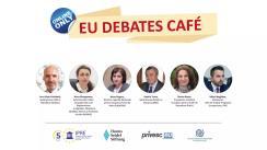 """EU Debates Cafe organizat de Institutul pentru Politici și Reforme Europene cu tema """"Impactul COVID-19 asupra bunăstării migranților moldoveni: cum putem răspunde provocărilor actuale"""""""