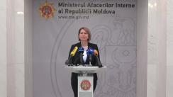 Conferință de presă cu participarea Sercretarului de stat al Ministerului Afacerilor Interne din Republica Moldova, Mariana Grama, pe marginea evenimentelor la care subdiviziunile MAI asigură ordinea și siguranța publică