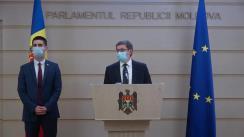 Declarațiile lui Igor Grosu și Mihai Popșoi în timpul ședinței Parlamentului Republicii Moldova din 20 iulie 2020