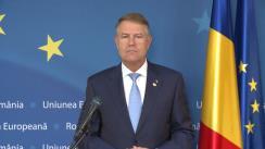 Declarație de presă susținută de Președintele României, Klaus Iohannis, la finalul reuniunii Consiliului European de la Bruxelles (Regatul Belgiei)