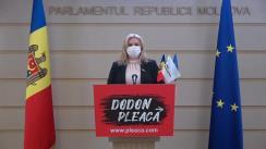 Briefing de presă susținut de deputata Grupului parlamentar PRO MOLDOVA, Ruxanda Glavan