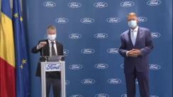 Declarația de presă comună a Președintelui României, Klaus Iohannis, și Președintele Ford România, Ian Pearson