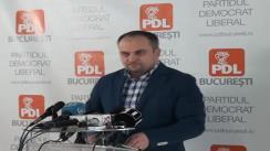 Conferință de presă pe tema proiectului ''autostrăzii  suspendate'' susținută de președintele PDL Sector 5, Ștefan Pirpiliu