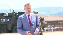 Declarația de presă susținută de Președintele României, Klaus Iohannis, după participarea la ceremonia de înființare a Comandamentului Corpului Multinațional Sud-Est (MNC-SE) și la desfășurarea etapei finale a Exercițiului cu termen scurt de notificare