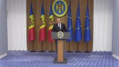 Briefing susținut de Prim-ministrul Republicii Moldova, Ion Chicu, după ședința Comisiei Naționale Extraordinară în Sănătate Publică