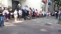 Flashmob organizat de Partidul Acțiune și Solidaritate la Consiliul Superior al Magistraturii
