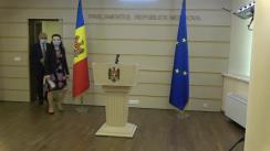 Briefing de presă susținut de către deputații Fracțiunii Platforma DA, Blocul ACUM, Chiril Moțpan și Stela Macari