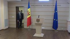 Briefing de presă susținut de Președintele Fracțiunii PAS, Blocul ACUM, Igor Grosu, despre contrabanda cu țigări și condiționalitățile UE