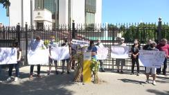 Manifestație organizată de Partidul Acțiune și Solidaritate în susținerea agricultorilor