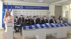 Conferința de presă dedicată constituirii Partidului PACE și lansării acestuia pe arena politică