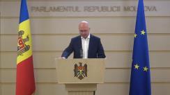 Briefing de presă susținut de deputatul Partidului Democrat din Moldova, Pavel Filip