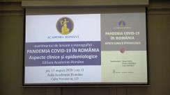 """Lansarea monografiei """"Pandemia COVID-19 în România. Aspecte clinice și epidemiologice"""""""