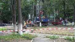 Startul lucrărilor de renovare a scuarului de pe strada V. Dokuceaev