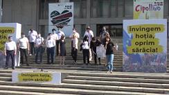 """Acțiunea de protest """"Învingem hoția, oprim sărăcia!"""" organizată de Partidul Acțiune și Solidaritate"""