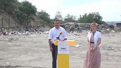 """Conferință de presă organizată de Fracțiunea PAS din CMC cu tema """"Peste 160 mii de tone de deșeuri ajung anual la gunoiștea din Țânțăreni. PAS vine cu soluții"""""""