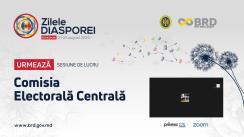 Zilele Diasporei 2020. Sesiunea: Comisia Electorală Centrală și Centrul de Instruire Continuă în Domeniul Electoral