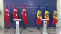 Briefing de presă susținut de Ministrul Afacerilor Externe și Integrării Europene al Republicii Moldova, Oleg Țulea, și Ministrul Afacerilor Externe al Republicii Turcia, Mevlüt Cavușoglu
