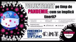"""Dezbaterea publică organizată de Radio Moldova Tineret pe tema """"Voluntariat pe timp de pandemie: cum se implică tinerii?"""""""