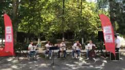 """Flashmob organizat de Moldovan National Youth Orchestra în cadrul expediției muzicale """"La La Play 2020"""" la Spitalul clinic municipal de boli contagioase de copii"""
