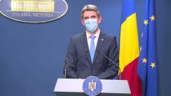 Conferință de presă după ședința Guvernului României din 31 august 2020