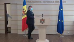 """Briefing de presă susținut de către deputatul Iurie Reniță cu genericul """"Decizie ilegală a Comisiei politică externă și integrare europeană în cazul votării ambasadorilor"""""""
